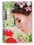 Smelling The Roses Spiral Notebook