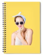 Smiling Pin-up Girl Spiral Notebook
