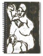 Smoker In Green Spiral Notebook