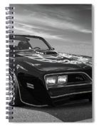 Smokey And The Bandit Trans Am In Mono Spiral Notebook