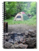 Smoking Tents Spiral Notebook
