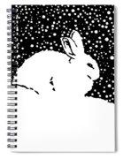 Snow Bunny Rabbit Holiday Winter Spiral Notebook
