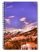 Snow Covered Mountains Spiral Notebook