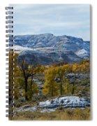 Snow Falls On Autumn Spiral Notebook
