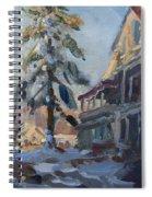 Snow In Town Spiral Notebook