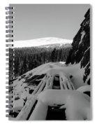 Snow Trellis Spiral Notebook
