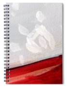Snowflake With Red Spiral Notebook