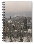 Snowy Bled In Slovenia Spiral Notebook