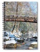 Snowy Bridge Spiral Notebook