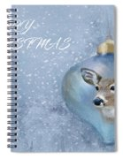 Snowy Deer Ornament Christmas Image Spiral Notebook