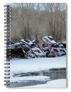 Snowy Graveyard Spiral Notebook