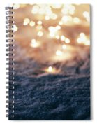 Snowy Winter Background With Fairy Lights. Spiral Notebook