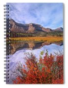 Sofa Mountain Reflecteion, Waterton Spiral Notebook