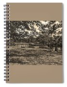 Solitude In Black And White With Sepia Tones Spiral Notebook