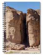 Solomon's Pillars In The Timna Valley In Southern Israel. Spiral Notebook