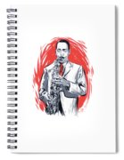 Sonny Stitt - An Illustration By Paul Cemmick Spiral Notebook