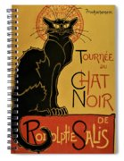 Soon, The Black Cat Tour By Rodolphe Salis - Digital Remastered Edition Spiral Notebook