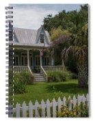 Southern Coastal Tin Roof Cottage Spiral Notebook