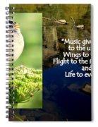 Sparrows Music Spiral Notebook