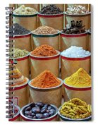 Spices Market In Dubai Spiral Notebook