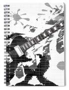 Splatter Guitar Spiral Notebook