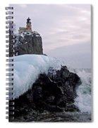 Split Rock Lighthouse Winter Spiral Notebook