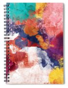Spring Crush 3- Abstract Art By Linda Woods Spiral Notebook