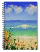 Spring Flowers And Sea And Clouds Spiral Notebook