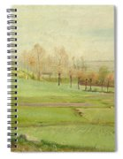 Spring Landscape With Light Green Fields Spiral Notebook