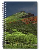 Spring Storm At Milepost 84 Spiral Notebook