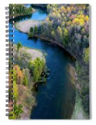 Springtime On The Manistee River Aerial Spiral Notebook