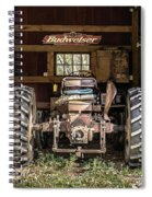Square Format Old Tractor In The Barn Vermont Spiral Notebook