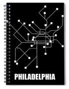 Square Philadelphia Subway Map Spiral Notebook