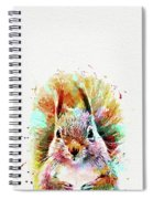 Squirrel Painting Spiral Notebook