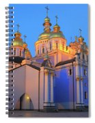 St Michael's Golden-domed Monastery At Dusk Kiev Ukraine Spiral Notebook