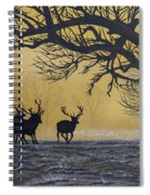 Stags At Dawn Spiral Notebook