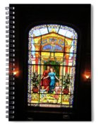 Stained Glass At Moody Mansion Spiral Notebook