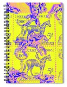 Stamps And Stallions Spiral Notebook