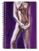 Standing Nude Model Gesture Xxxix Spiral Notebook