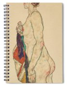 Standing Nude With A Patterned Robe, 1917  Spiral Notebook
