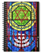 Star Of David Stained Glass Spiral Notebook