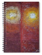 Staring Into The Suns Original Painting Spiral Notebook