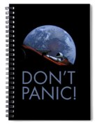 Starman Don't Panic In Orbit Spiral Notebook