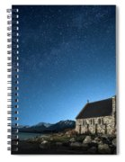 Stars And Midnight Blue Spiral Notebook