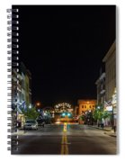 State Street With The Newly Lit Bristol Sign Spiral Notebook