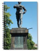 statue In memory of Gallant Soldier Lt. Col. George Elliott Bens Spiral Notebook
