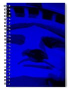 Statue Of Liberty In Blue Spiral Notebook