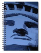 Statue Of Liberty In Cyan Spiral Notebook