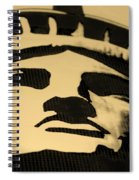 Statue Of Liberty In Dark Sepia Spiral Notebook