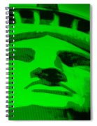 Statue Of Liberty In Green Spiral Notebook